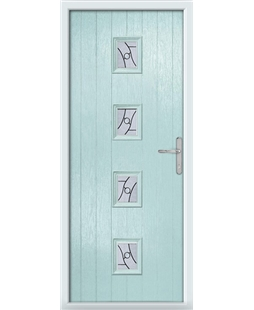 The Uttoxeter Composite Door in Blue (Duck Egg) with Zinc Art Abstract