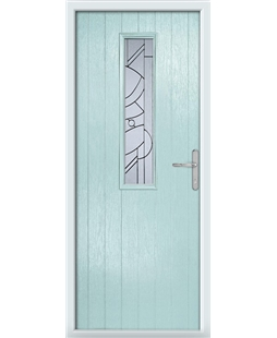 The Sheffield Composite Door in Blue (Duck Egg) with Zinc Art Abstract