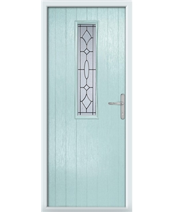 The Sheffield Composite Door in Blue (Duck Egg) with Zinc Art Clarity