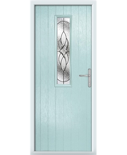 The Sheffield Composite Door in Blue (Duck Egg) with Zinc Art Elegance