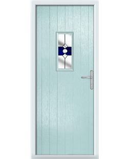 The Taunton Composite Door in Blue (Duck Egg) with Blue Crystal Bohemia