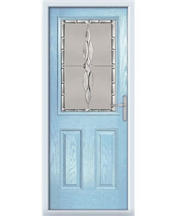 The Farnborough Composite Door in Blue (Duck Egg) with Luxury Crystal
