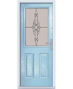 The Farnborough Composite Door in Blue (Duck Egg) with Crystal Simplicity