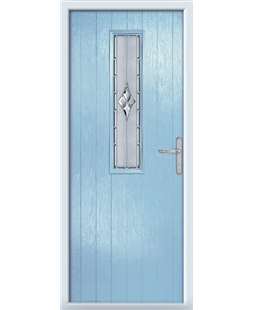The Sheffield Composite Door in Blue (Duck Egg) with Radiance