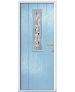 The Sheffield Composite Door in Blue (Duck Egg) with Crystal