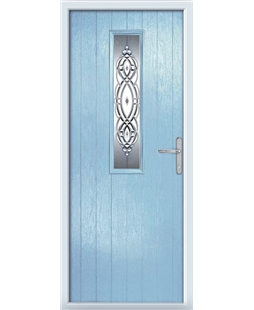 The Sheffield Composite Door in Blue (Duck Egg) with Reflections