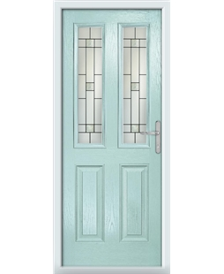 The Cardiff Composite Door in Blue (Duck Egg) with Tate