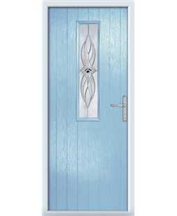 The Sheffield Composite Door in Blue (Duck Egg) with Westminster