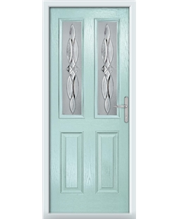 The Cardiff Composite Door in Blue (Duck Egg) with Crystal