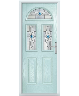 The Glasgow Composite Door in Blue (Duck Egg) with Blue Daventry