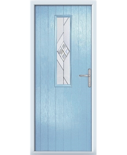 The Sheffield Composite Door in Blue (Duck Egg) with Eclipse