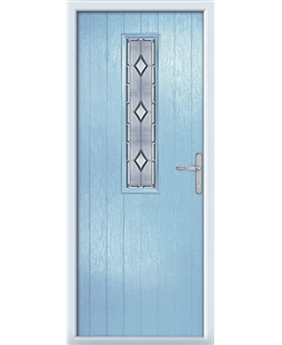 The Sheffield Composite Door in Blue (Duck Egg) with Ice