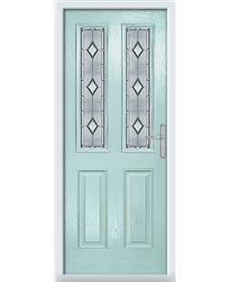 The Cardiff Composite Door in Blue (Duck Egg) with Ice