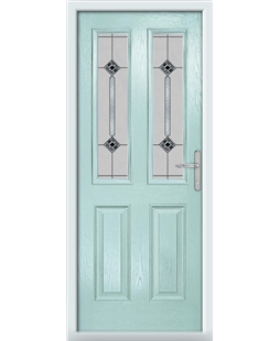 The Cardiff Composite Door in Blue (Duck Egg) with Infinity