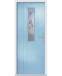 The Sheffield Composite Door in Blue (Duck Egg) with Knightsbridge