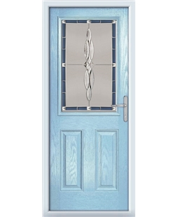 The Farnborough Composite Door in Blue (Duck Egg) with Blue Luxury Crystal