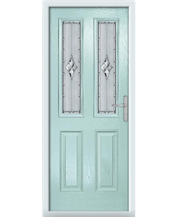 The Cardiff Composite Door in Blue (Duck Egg) with Radiance