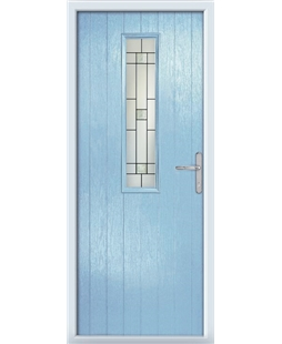 The Sheffield Composite Door in Blue (Duck Egg) with Tate