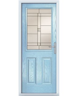 The Farnborough Composite Door in Blue (Duck Egg) with Tate