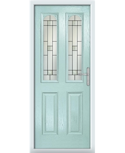 The Aberdeen Composite Door in Blue (Duck Egg) with Tate