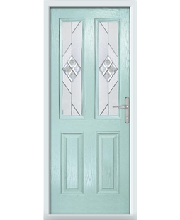 The Cardiff Composite Door in Blue (Duck Egg) with Eclipse Glazing