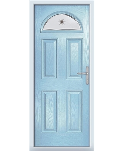 The Derby Composite Door in Blue (Duck Egg) with Etched Star