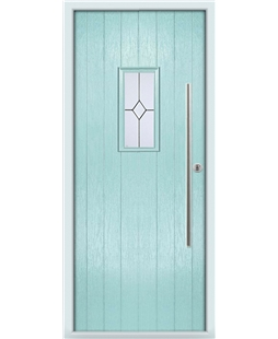 The Zetland Composite Door in Blue (Duck Egg) with Classic Glazing