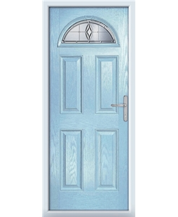 The Derby Composite Door in Blue (Duck Egg) with Prism