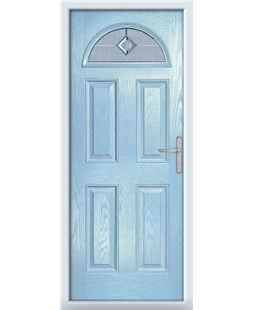 The Derby Composite Door in Blue (Duck Egg) with Cameo