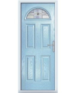 The Derby Composite Door in Blue (Duck Egg) with Black Daventry