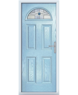 The Derby Composite Door in Blue (Duck Egg) with Blue Daventry