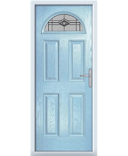 The Derby Composite Door in Blue (Duck Egg) with Fusion Graphite