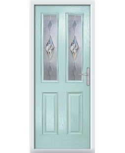 The Cardiff Composite Door in Blue (Duck Egg) with Knightsbridge
