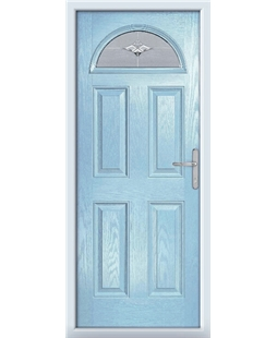 The Derby Composite Door in Blue (Duck Egg) with Luxury Crystal