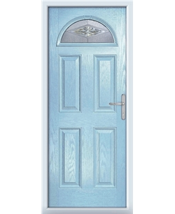 The Derby Composite Door in Blue (Duck Egg) with Mayfair