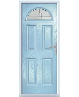 The Derby Composite Door in Blue (Duck Egg) with Tate