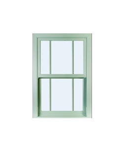 Hampshire uPVC Sliding Sash Window in Chartwell Green