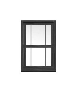 Hampshire uPVC Sliding Sash Window in Anthracite Grey