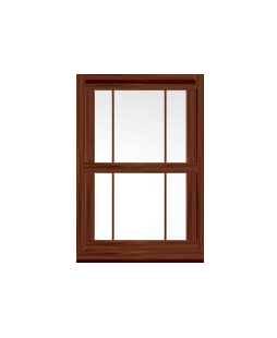 Hampshire uPVC Sliding Sash Window in rosewood