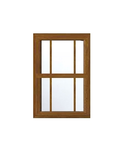 Hampshire uPVC Sliding Sash Window in Golden Oak