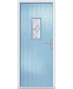 The Taunton Composite Door in Blue (Duck Egg) with Eclipse