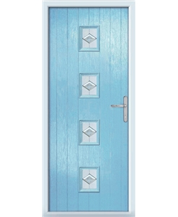 The Uttoxeter Composite Door in Blue (Duck Egg) with Eclipse