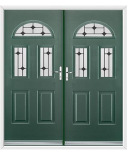Tennessee French Rockdoor in Emerald Green with Black Diamonds