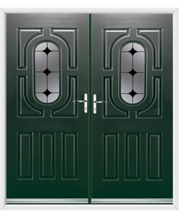 Arcacia French Rockdoor in Emerald Green with Black Diamonds