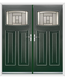 Newark French Rockdoor in Emerald Green with Citadel Glazing