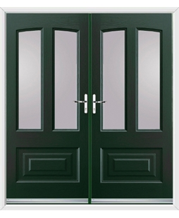 Illinois French Rockdoor in Emerald Green with Glazing