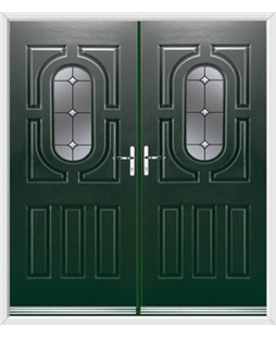 Arcacia French Rockdoor in Emerald Green with Crystal Bevel