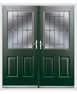 Windsor French Rockdoor in Emerald Green with Crystal Bevel