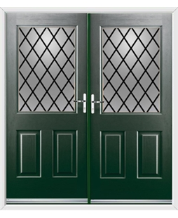 Windsor French Rockdoor in Emerald Green with Diamond Lead