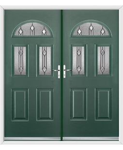 Tennessee French Rockdoor in Emerald Green with Dorado Glazing